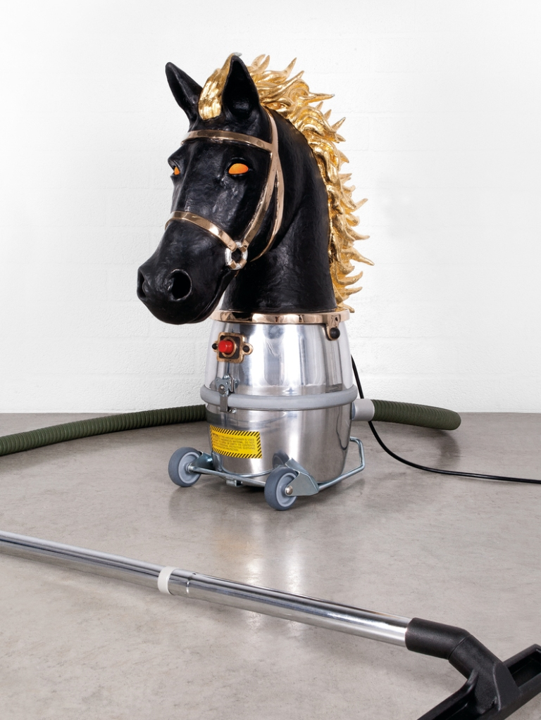 'Horse Bust (Chess Piece)' by Studio Job, 2014.  Chamber