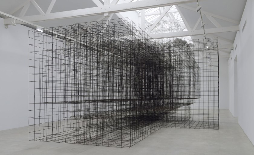 "The final work is MATRIX II in which ""perspective is used to destroy perspective"" -Antony Gormley."