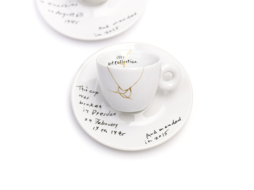 illy art collection, mended, espresso, yoko ono, dresden