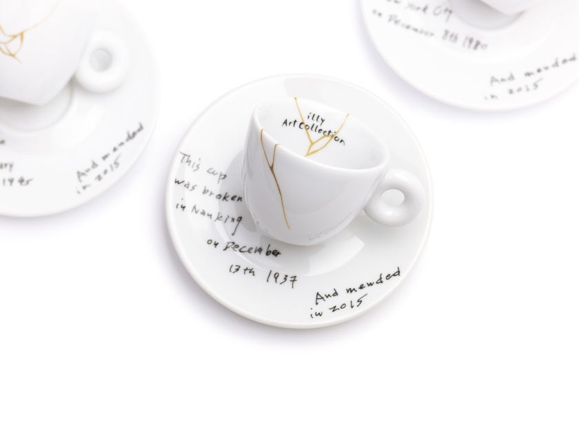 illy art collection, mended, espresso, yoko ono, nanking