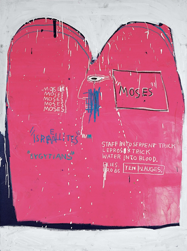 Jean-Michel Basquiat Moses and the Egyptians, 1982 © Estate of Jean-Michel Basquiat. Licensed by Artestar, New York