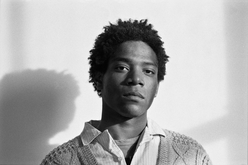 Jean-Michel Basquiat, 1984 Photograph by Lee Jaffe, Copyright, All Rights Reserved Courtesy of LW Archives
