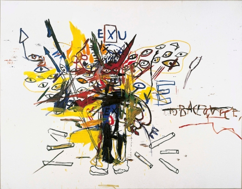 Jean Michel Basquiat Exu, 1988 © Estate of Jean-Michel Basquiat. Licensed by Artestar, New York