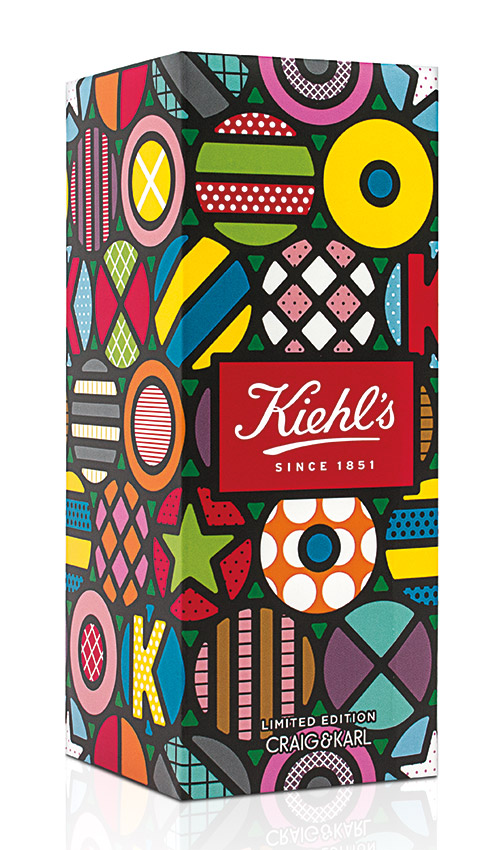 Packaging for a limited edition collection of Kiehl's beauty products.