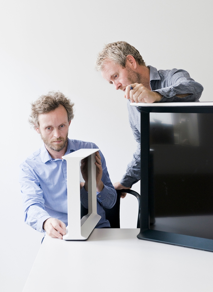 The Bouroullec brothers at work on Serif TV.