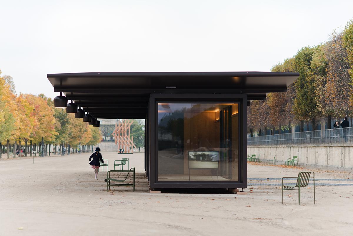 kiosque tuileries garden ronan erwan bouroullec. Black Bedroom Furniture Sets. Home Design Ideas