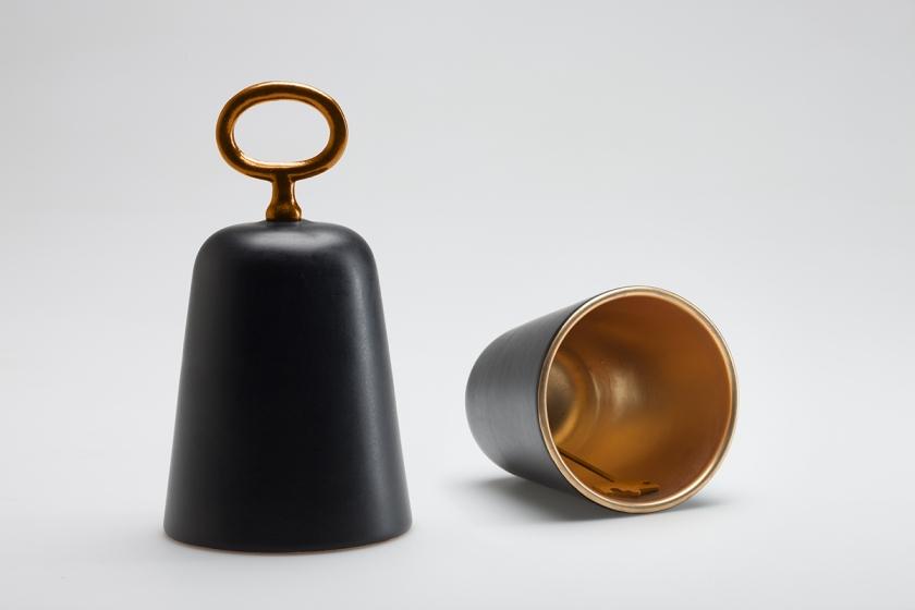 UNLOCK, ceramic + metal bell, CtrlZak x Bosa.