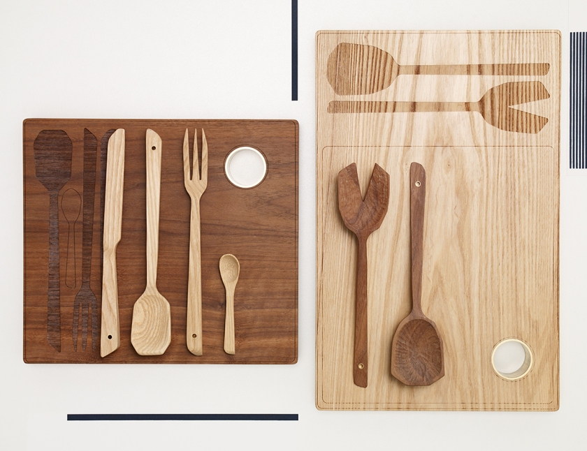 Wooden cutlery by Studio Simple.
