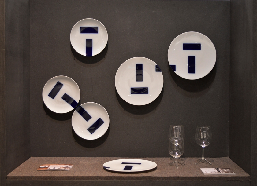 Blue Notes, tableware by Eric Hibelot for Th Manufacture.