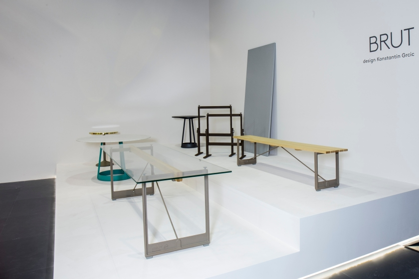 Brut tables by Konstantin Grcic.
