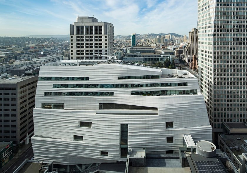 Snøhetta expansion of the new SFMOMA, 2016; photo: © Henrik Kam, courtesy SFMOMA.
