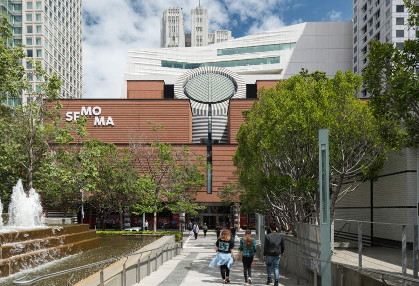The new SFMOMA, view from Yerba Buena Gardens; photo: Jon McNeal, © Snøhetta.