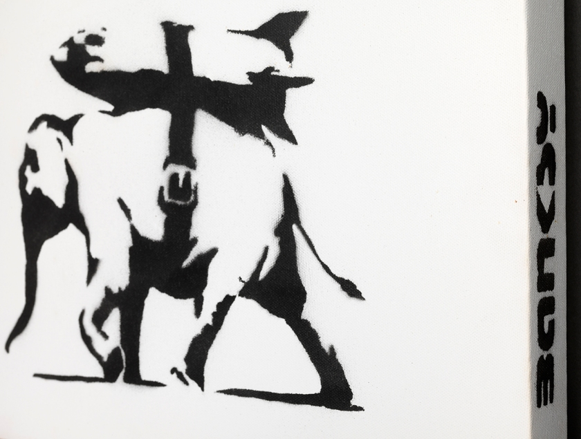 Banksy, Heavy Weaponry 2004 cm. 30 x 30_0309