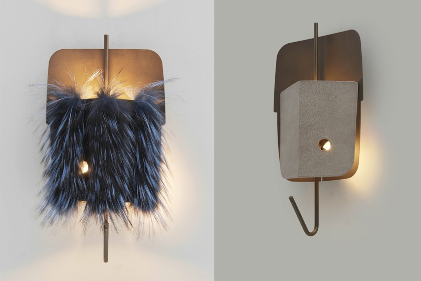 Velum wall lamp_design Marco Costanzi_fur cover_01