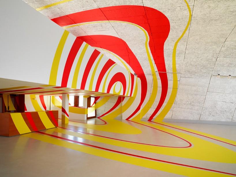 New Geometric Projection by Felice Varini in Paris |Felice Varini Him