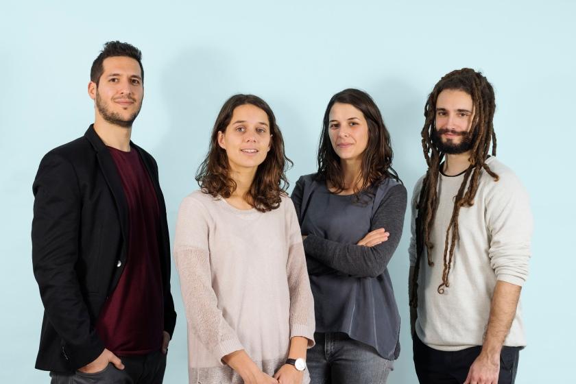Kike, Jordi, Anna & Rosa. (the team at Joan Rojeski Studio).